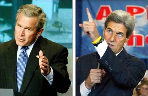 Image: Bush and Kerry