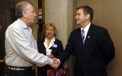 Image: Billy Tauzin III and La. Secretary of State Fox McKeithen