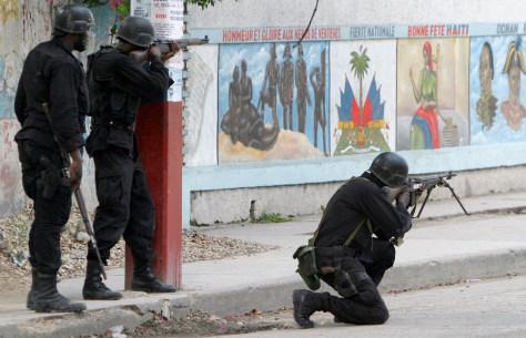 Image: Haitian police.