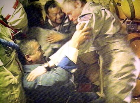 Image: Astronauts' greeting