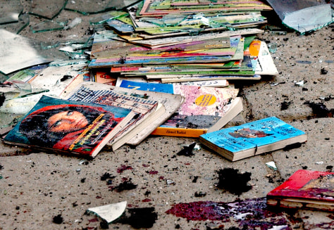 Image: Debris from suicide attack.