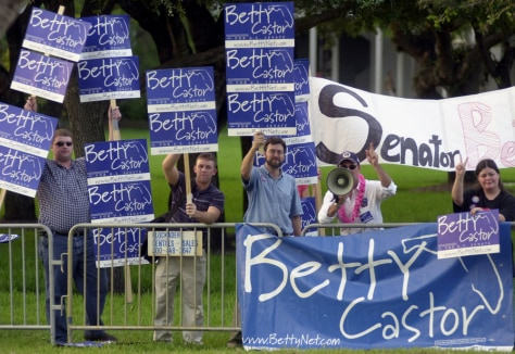 Image: Castor supporters
