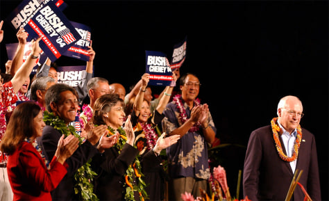 Vice president Dick Cheney stumps in Hawaii