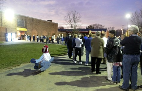 OHIO VOTERS WAIT