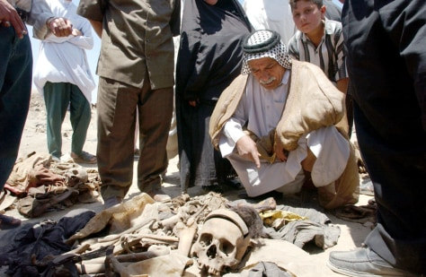 Image: Mass grave in Iraq.