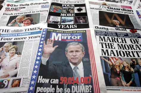 BRITISH NEWSPAPER HEADLINES