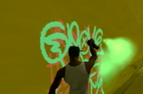 "Graffiti tagging in ""Grand Theft Auto: San Andreas"""