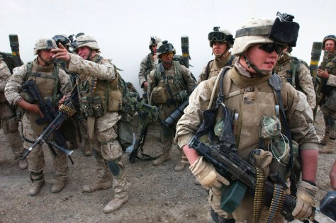 U.S Marines Begin Ground Offensive On Fallujah