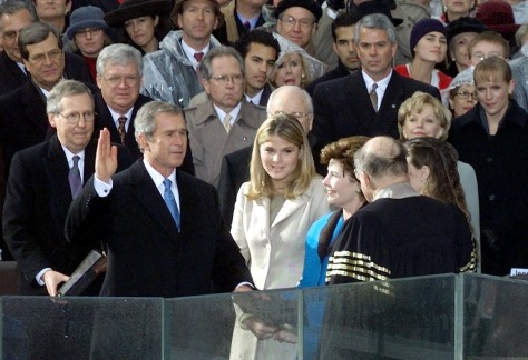 FILE PHOTO: BUSH SWORN IN FOR FIRST TERM