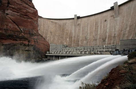 WATER RELEASED FROM GLEN CANYON DAM
