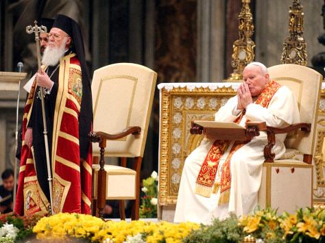 Image: Pope John Paul II and Ecumenical Patriarch Bartholomew I.
