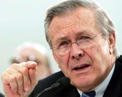 (FILE) Rumsfeld Stays On As Secretary Of Defense