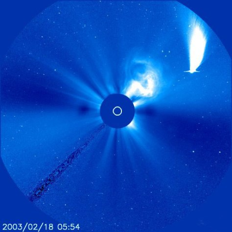 Image: SOHO view of comet