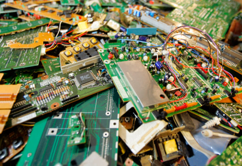 circuit boards sit in warehouse