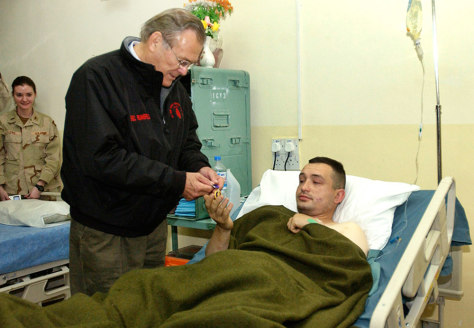 IMAGE: Rumsfeld in Iraq