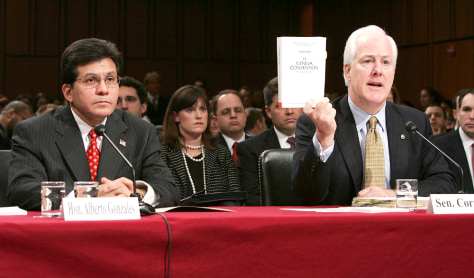 Senate Confirmation Hearings For Alberto Gonzales Begin