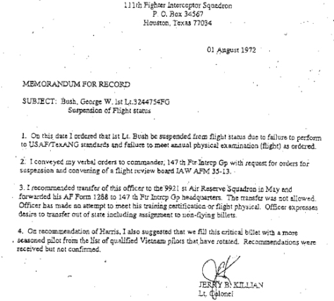 IMAGE: CBS DOCUMENT