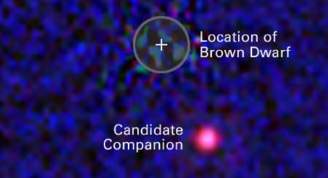 Image: Brown dwarf and companion
