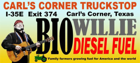 WILLIE NELSON BIODIESEL BILLBOARD