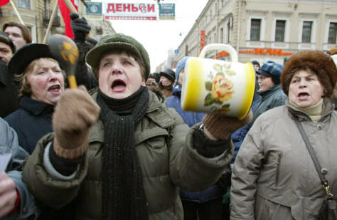 Image: Russian pensioners protest