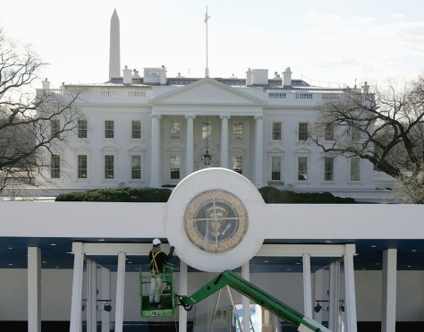 Washington Prepares For Bush's Second Inauguration