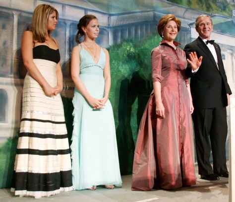 IMAGE: First family Black Tie Ball and Boots Ball