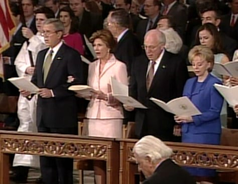 PRESIDENT BUSH AT CHURCH SERVICE