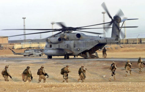 File photo of US CH-53E Super Stallion similar to helicopter which crashed in Iraq