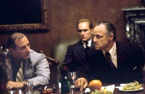 Duvall, Brando in 'The Godfather'
