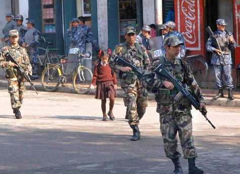 Image: Nepalese soldiers.