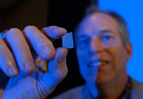 IBM official holds Cell chip