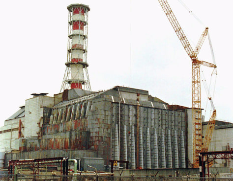 PROTECTIVE COVER OVER CHERNOBYL REACTOR