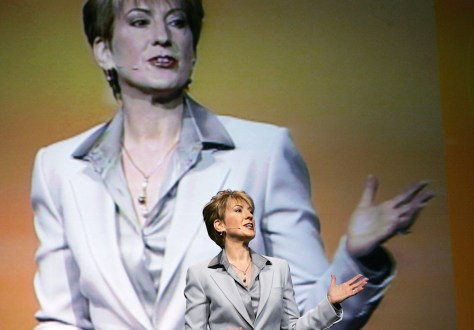 FILE PHOTO - Hewlett-Packard CEO Carly Fiorina Steps Down