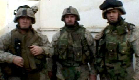 Sgt. Sam Pennock,Cpl. David Kammererand HM2 Nathan McDonell