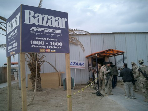 Baghdad bazaar at Camp Victory