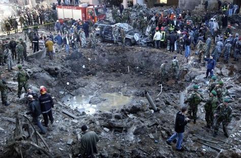 Beirut bomb crater