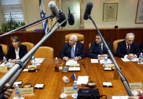IMAGE: Israeli Cabinet meets Sunday