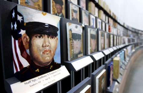 Portraits Of U.S. War Dead Go On Display At Arlington National Cemetary