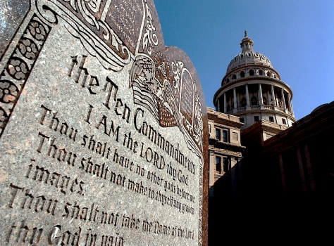 TEN COMMANDMENTS DISPLAY AT TEXAS CAPITOL
