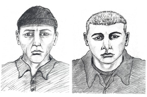 Image: Police sketches of men seen near judge's home