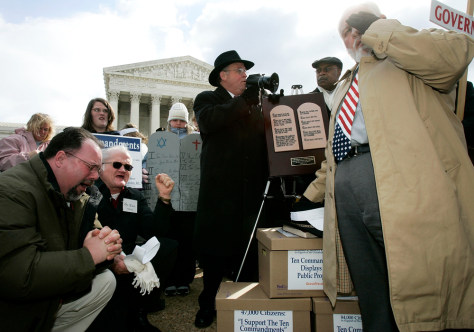 Christian Groups Rally At The Supreme Court To Support The Ten Commandments