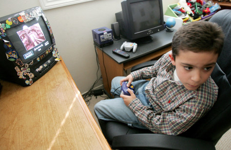 9-year-old plays on Game Cube
