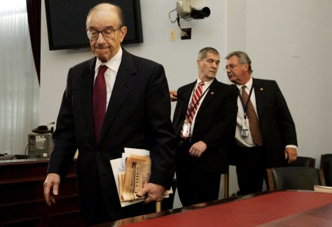 Federal Reserve Board Chairman Alan Greenspan testifies in front of House Budge Committee
