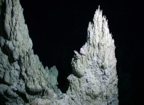 30-meter tall mineral peak
