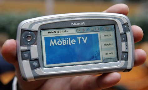 Nokia phone with mobile TV