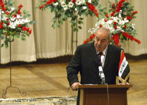 Image: Outgoing Interim Prime Minister Ayad Allawi