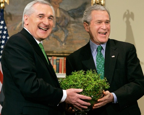 Image: President Bush and Irish Prime Minister Bertie Ahearn