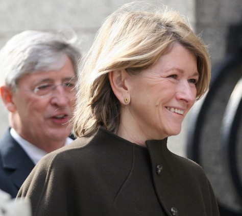 Martha Stewart enters the Federal Courthouse in New York