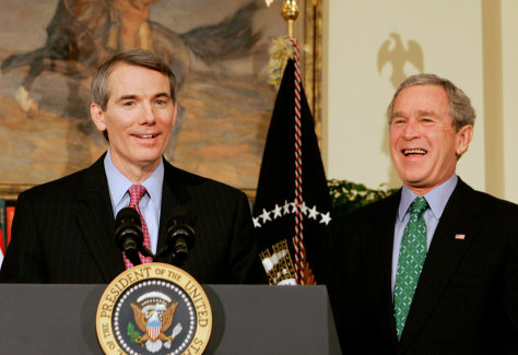 Image: President Bush announces Rob Portman as his choice for U.S. Trade Representative