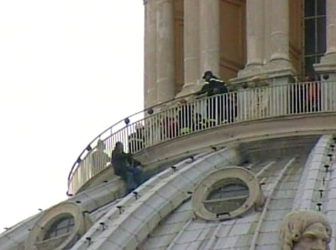Image: Man on St. Peter's Basilica